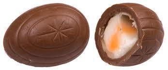 "What is this popular easter delight? They are chocolate with a fondant ""egg"" middle."