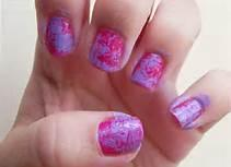 Do you like to do saran wrap nails??