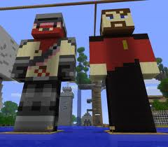 gaming: lewis and simon are known for playing minecraft, what skin does simon usually wear in minecraft?