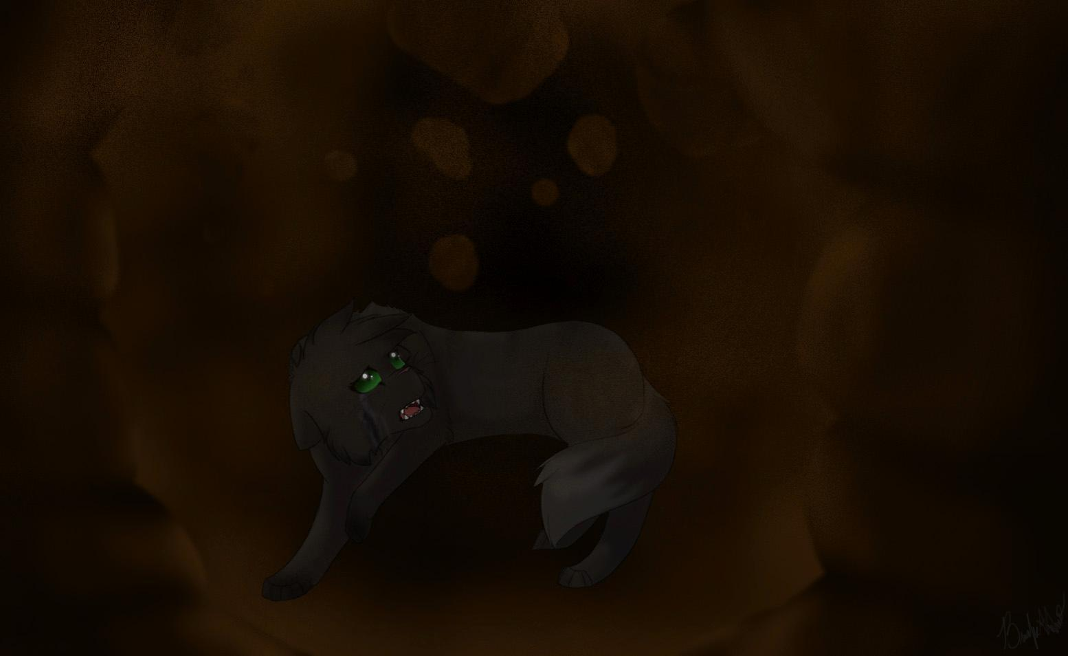 When Hollyleaf jumped into the tunnel that led to Windclan, what happened right when she entered it?