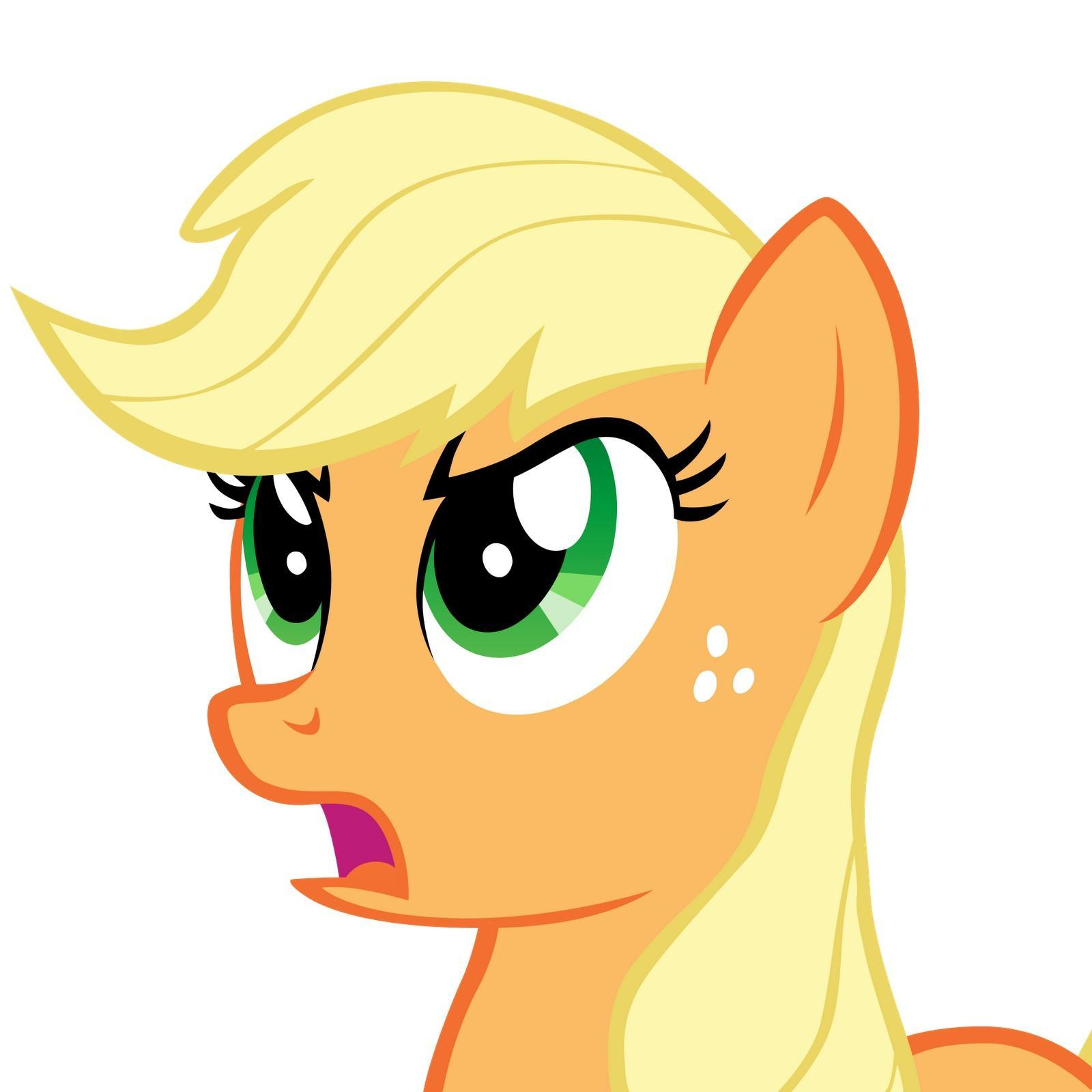 What does Applejack always wear?