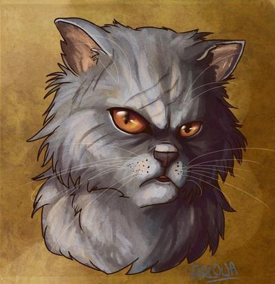 I was banished from shadowclan. My mate is raggedpelt. Now my loyalty lies on thunderclan. Killed by smoke inhalation. I am stern but calm.