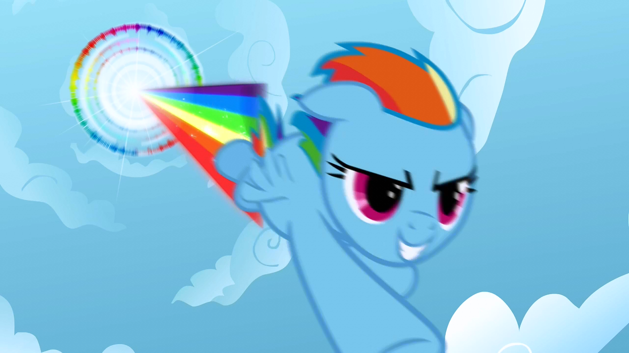 How does Rainbow Dash get her cutie mark?