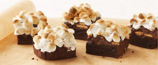 Brownies in a bakery or s'mores by a campfire?