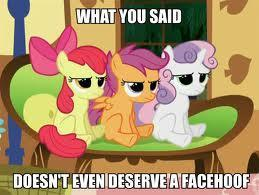 Applebloom: I'm SOOO a better leader than you could ever be!