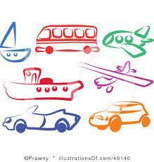 What are the forms of transport that the children use?