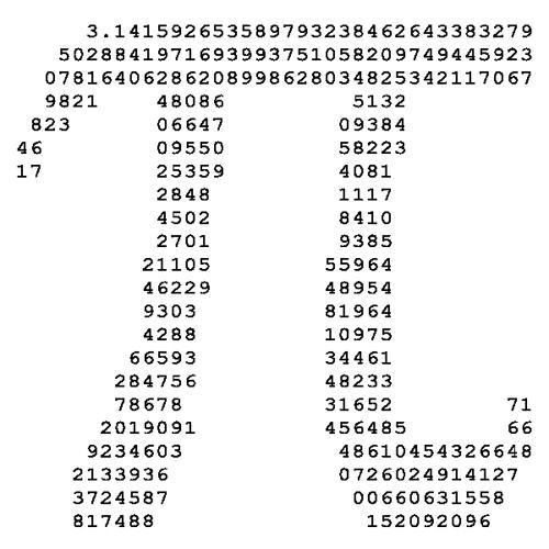 What is the value of PI?