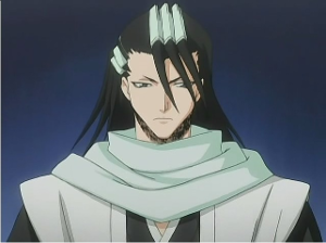 They calm down a bit and you say that you'll go and check up on her... You run into an angry Byakuya and he glares at you.