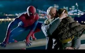 What is the name of the boy Spider-Man saves on the bridge?
