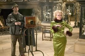 WHICH OF VERY TALENTED BRITISH ACTRESSES PLAYED RITA SKEETER WHO FIRST APPEARED IN HARRY POTTER AND THE GOBLET OF FIRE PLAYING THE DAILY PROPHET REPORTER WHO INTERVIEWS ALL FOUR TRI WIZARD CHAMPIONS?