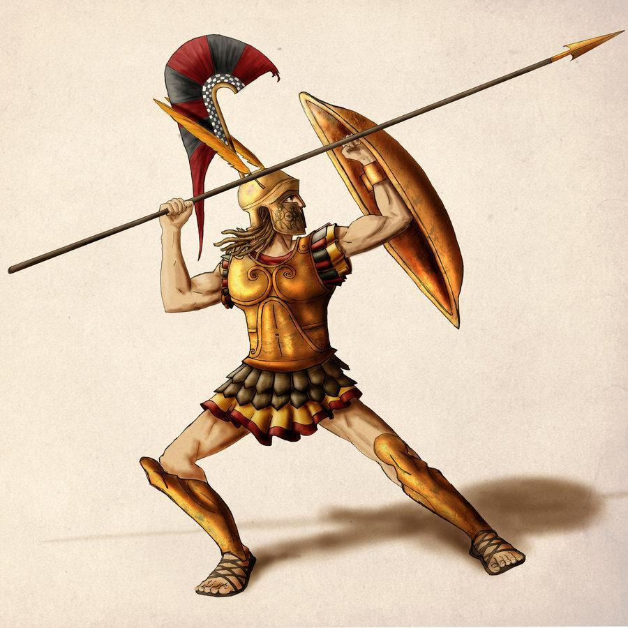 According to the greek stories, what was the main weak-spot of the greek hero Achilles? (one word)