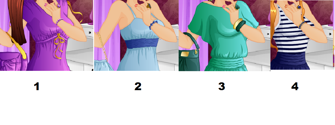 Your going out to a party. What do you where? Look at the pictures and matching number. Then select the number of the dress you like. Make sure you click the picture to see it big!