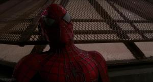 Who is the superhero villain in the first Spider-Man movie?