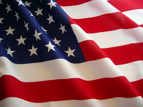 What are the colors on the American flag?