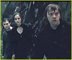 Harry while on his search for Voldemort's horcruxes intent upon destroying him had been helped in different ways by three fellow friends form Hogwarts, what was the name of the Hogwarts student that was the last one to help Harry by giving him their opinion on what to do and pointing him in the right direction?