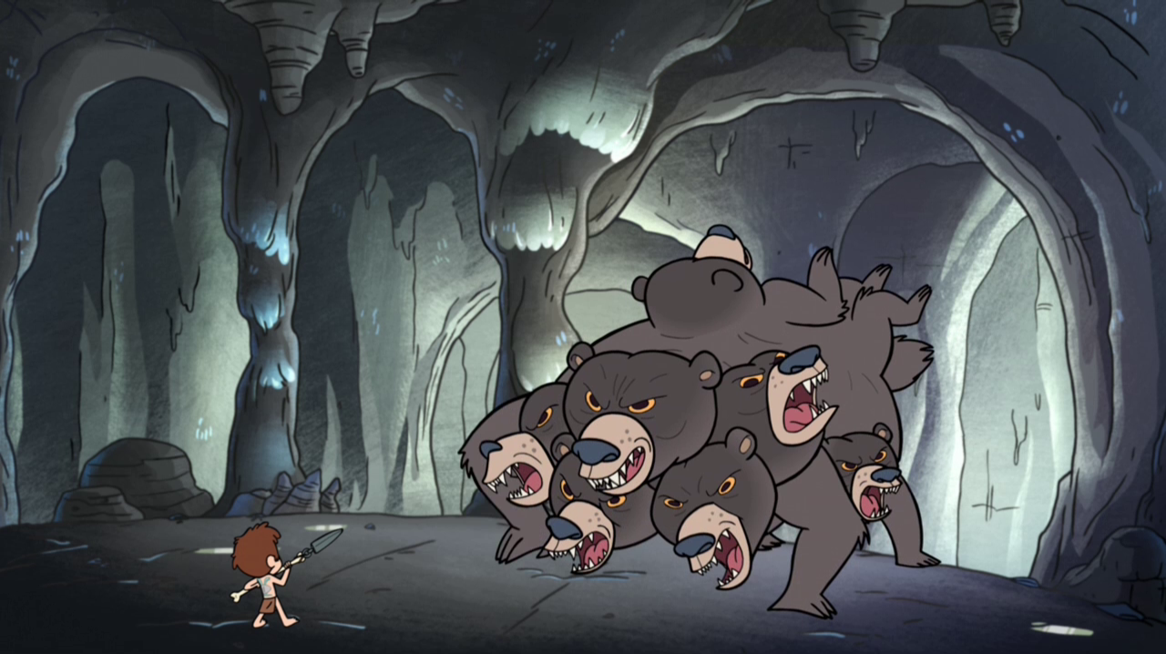 What creature did Dipper have to fight in Dipper VS Manliness(Don't forget the -)?