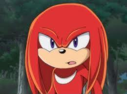 Sapphire: Hi I am here with Knuckles! Knuckles: How did I get here again? Sapphire o.ou...anyway hi everyone!