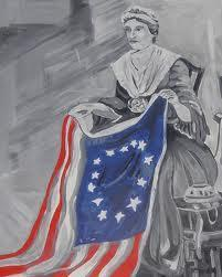 What famous lady is credited for sewing the first US flag? (first name: 5 letters-last name: 4 letters)