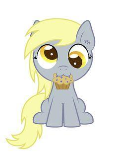 Ok so you give derpy a muffin to get her to stop seeing things as muffins before she eats anything XD Me: SO MANY WORDS!!!!