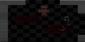 while playing the death mini game, 'Save Them', There is a chance the purple man will appear and kill you. what two words appear on the bottom left corner of your screen before the game crashes?