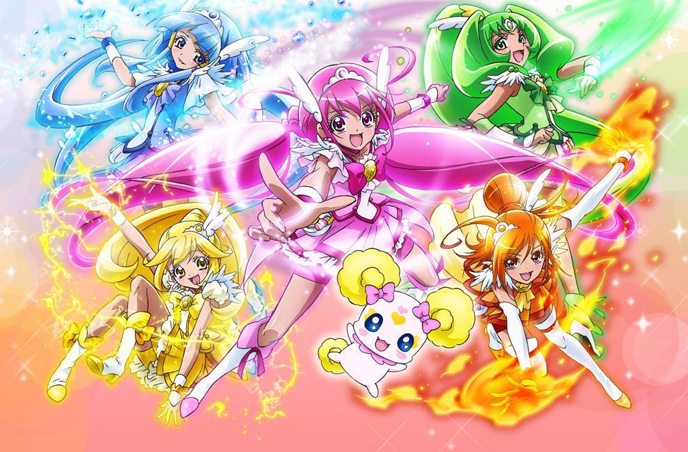 What colours does Smile Precure have in their team