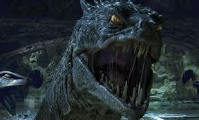 Which type of magical creatures flee from the basilisk as they are scared of them in Harry Potter and the Chamber of Secrets?