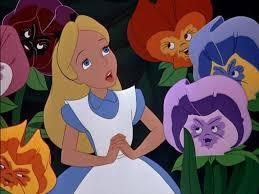 what was the song that the flowers sang to Alice called?