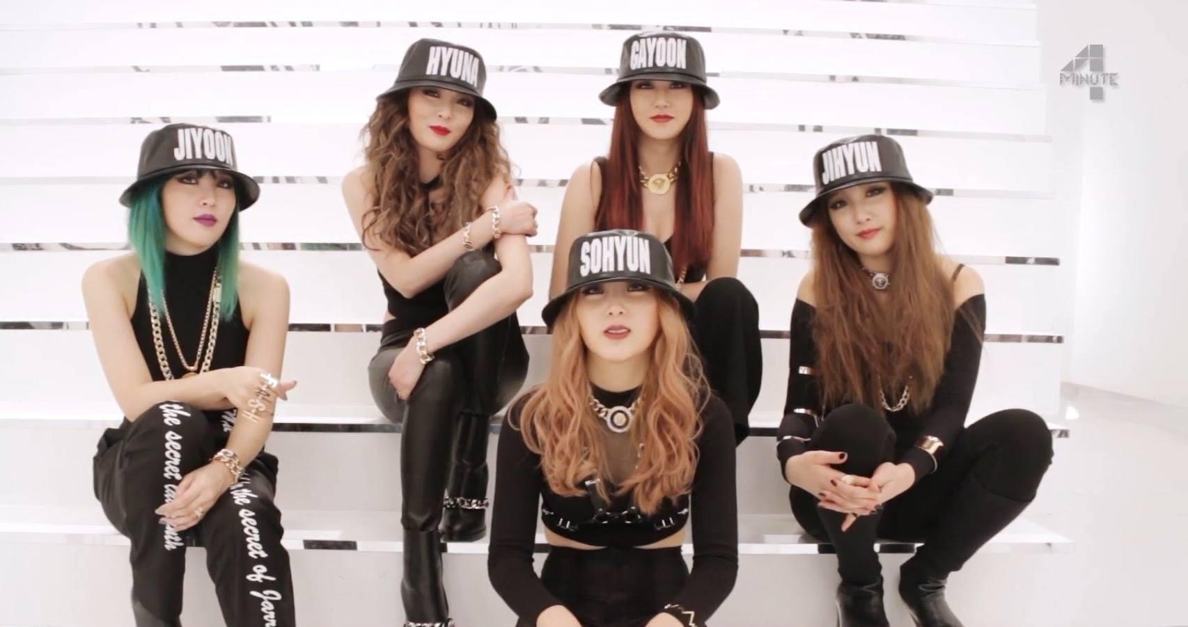 Who is the leader of 4minute?
