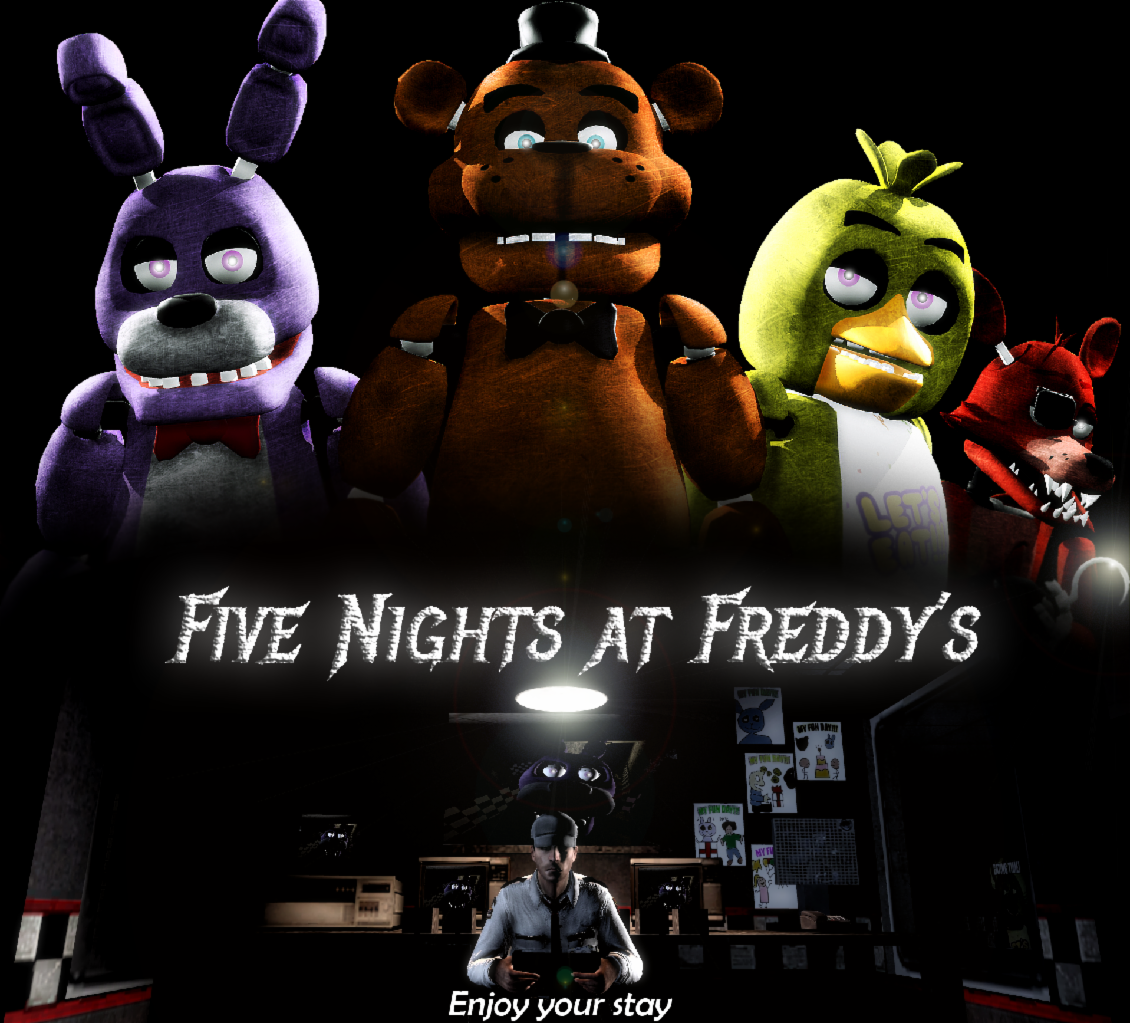 You began walking and thinking about your new job at: Freddy Fazbears Pizza. You didn't tell your friends because you thought it would be embaressing, working at a kids place.