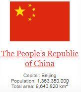 what is capital of The People's Republic of China ?