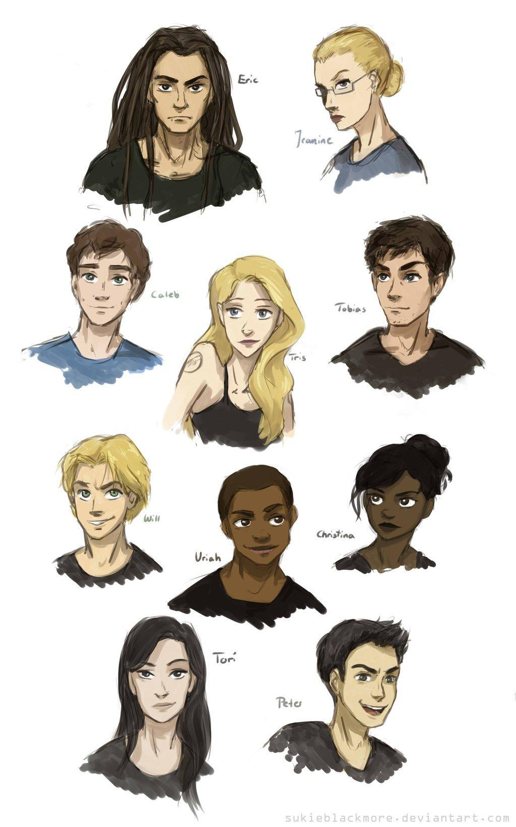 Pick two people that are not Tris' friends at dauntless?