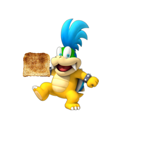 Oh no!  Larry Koopa stole your toast!  What will you do?
