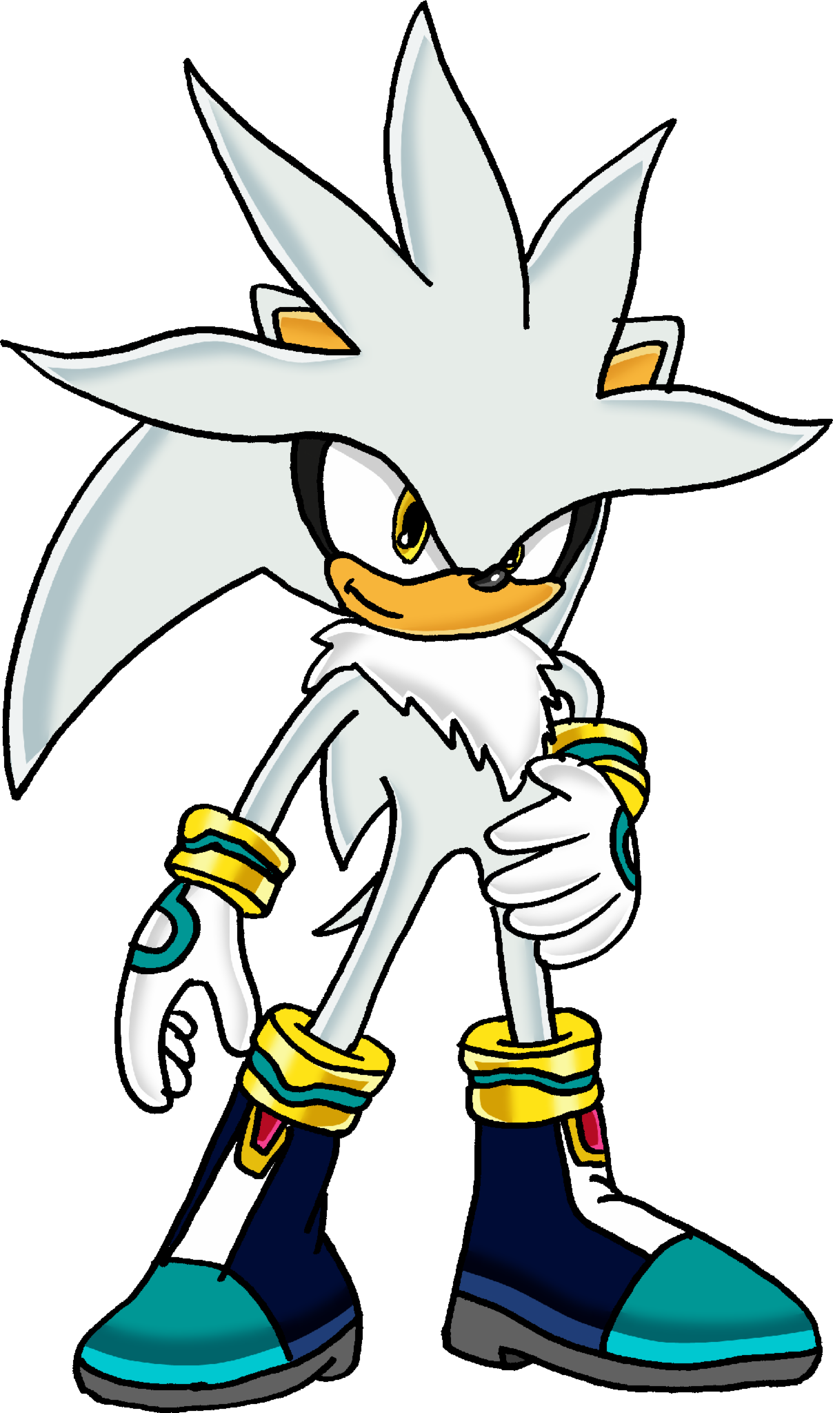 "Your still flipping out in the bathroom while Sonic, Silver, and Shadow are trying to calm you down. "" H-how did this happen? H-how did I become THIS?"" you say, gesturing to yourself. "" Honestly __, you don't look half bad."" replies Silver."