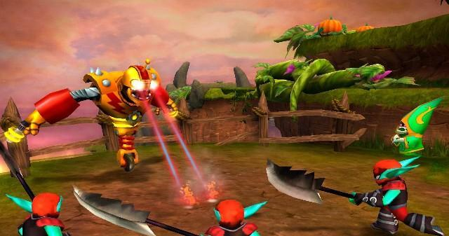 Which of these Skylanders use a weapon?