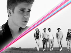 Who do you feel more excited about when their songs come up? Justin Bieber or One Direction?