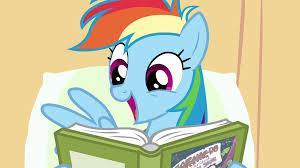 Who changed Rainbow Dash's mind about reading?
