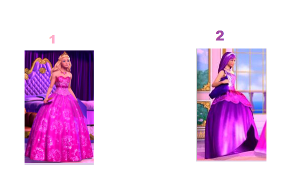 Which dress do you like better 1 or 2? (p.s click the picture to make it bigger)
