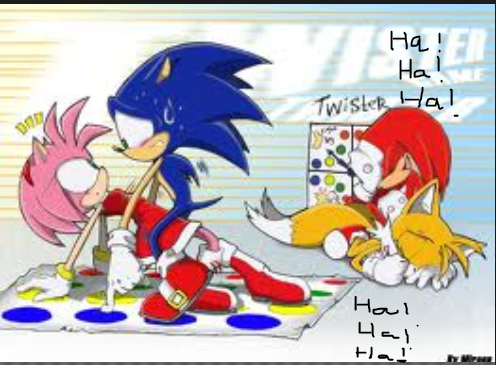 Sonic: Your go! me: ok ok! If Sonic cheated on you 4 me what would you say <3 Sonic: ¬_¬