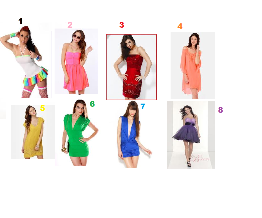 Which party dress would you wear to a party? ( click picture to make it bigger)