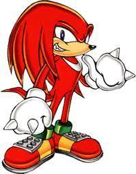 2. What colour does Knuckles go when he goes super?