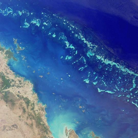 How long is the Great Barrier Reef?
