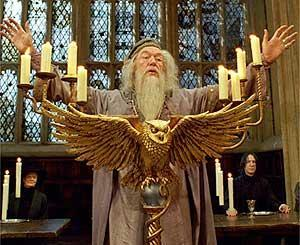 What colour is Pr.Dumbledore's eyes