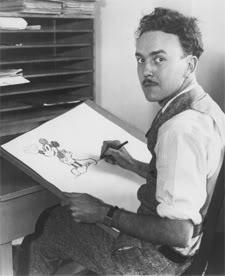 Who was the cartoonist that he started the Walt Disney Company with?