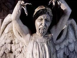 A weeping angel is after you. You....