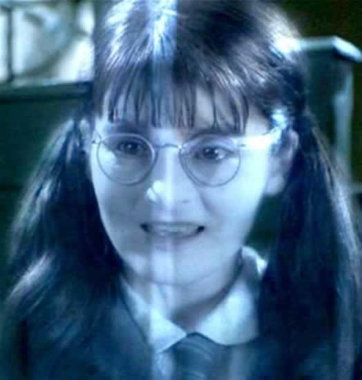 True o False the ghost name in the girls bathroom's name is Moaning Myrtle