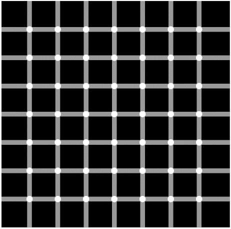 Look at the white dots of this picture, what happens?