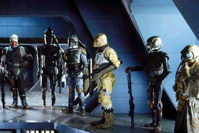 Episode 5: Check the names of the bounty hunters on Vader's ship.