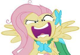What is Fluttershy saying hear? (season 1 episode 26 'the best night ever')