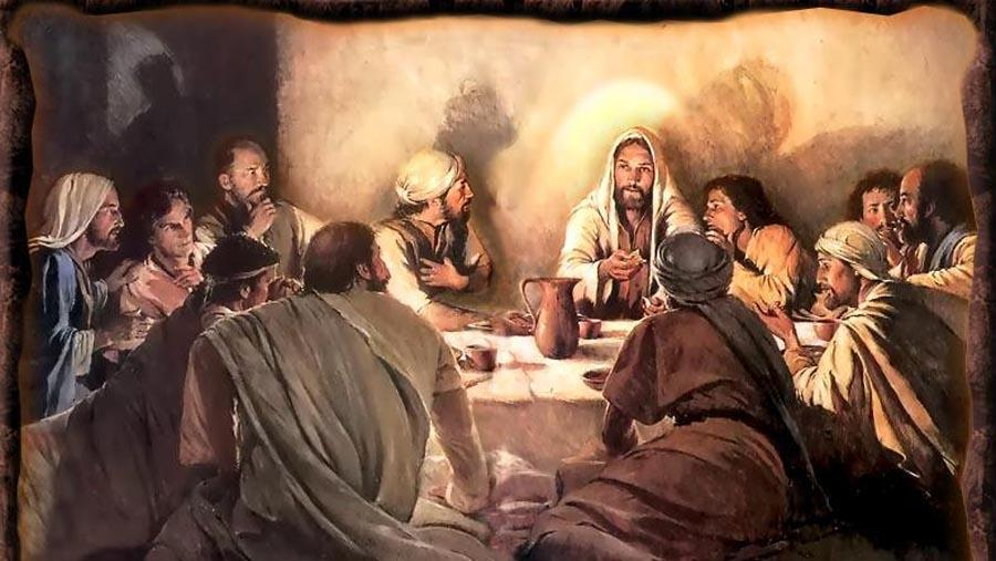 During the last supper Jesus turned bread into his body and wine into his blood. He then commanded his apostles to do it. Today when priests do this