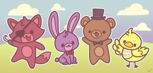 "Who said: ""I mean, just look at that Freddy teddy bear and look at that cute little Bonnie with his floppy ears! *cough cough* Whoa, that was weird."""